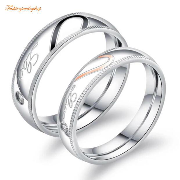 ペアリング サージカルステンレス316L ピンクゴールド ダイヤモンド 金属アレルギー対応 18K ピンクゴールド ステンレス 鍍金 シンプル LOVE ハート ひねり 細身 上品 おしゃれ 指輪 マリッジリング 結婚指輪 2本セット価格