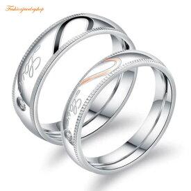 ペアLOVEハートリング サージカルステンレス 316L ピンクゴールド ステンレス ダイヤモンド 金属アレルギー対応 18K 鍍金 シンプル LOVE ハート ひねり 細身 上品 おしゃれ 指輪 マリッジリング 結婚指輪 2本セット価格