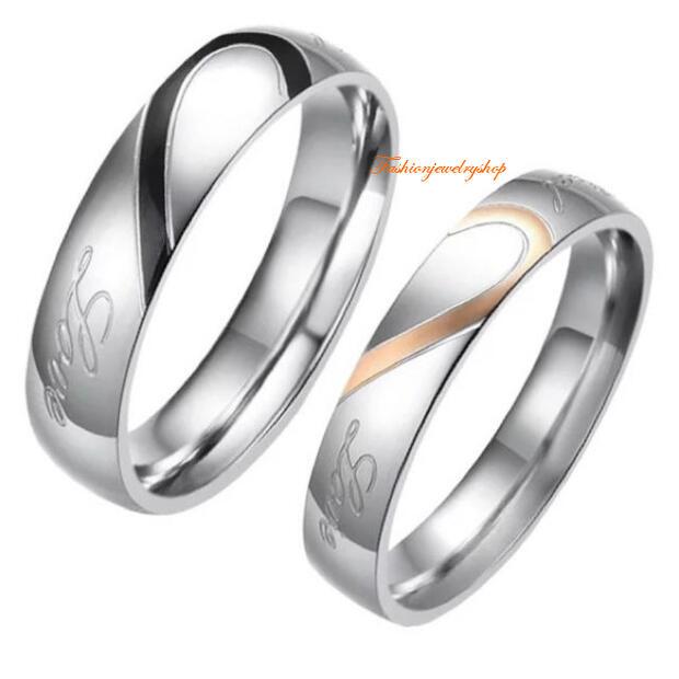 ペアリング サージカルステンレス316L ピンクゴールド 金属アレルギー対応 18K ピンクゴールド ステンレス 鍍金 シンプル LOVE ハート ひねり 細身 上品 おしゃれ 指輪 マリッジリング 結婚指輪 2本セット価格