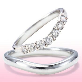 結婚指輪 ハーフエタニティ マリッジリングプラチナ ダイヤモンド ペアリング結婚指輪 シンプル ダイヤモンド0.5カラットブライダルジュエリー 美輪宝石 送料無料