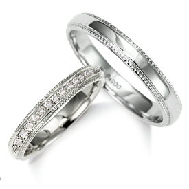 プラチナ ダイヤモンド クラシカル エタニティ ラインの人気の マリッジリング 結婚指輪 ! 1年以内 サイズ直し 1回無料対応付 【送料無料】 【ミワホウセキ】 miwahouseki