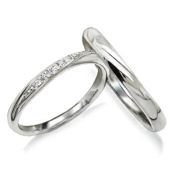 2本でこの価格 期間限定 特別価格結婚指輪 マリッジ リング プラチナ900 大人可愛い優しいラインが人気の ダイヤモンド ペアリング 1年以内 サイズ 直し 1回無料対応付 送料無料