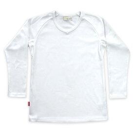 Tシャツ メンズ 無地 日本製 超厚手 8.5オンス 【美和縫製 無地ラグラン長袖Tシャツ 白雲(白)/ 3(LL)】透けない tシャツ 綿100% 長袖 8.5oz 厚手 ヘビーウェイト ラグラン ギフト 送料無料