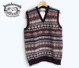 JAMIESON'S ジャミーソンズ Fairisle Knit Vest フェアアイル ニット Vネック ベスト 625/106