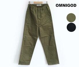 【SALE】【20%OFF】OMNIGOD オムニゴッド ヘリンボーンスレキ トラバーユ イージーパンツ(レディス 53-173Z)裾上げ対応不可