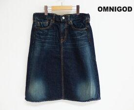 【SALE】【20%OFF】OMNIGOD オムニゴッド 10ozデニム 5p スカート (57-049D #27-9)