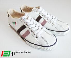 maccheronian マカロニアン レザースニーカー 2215L (White/Pink/Brown)