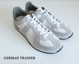 GERMAN TRAINER ジャーマントレーナー WHITE レザー スニーカー