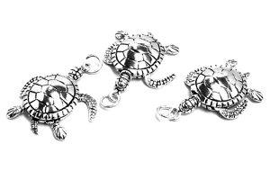 海亀シルバーペンダントトップ 動く おもしろ ハワイアンジュエリー カメ タートル 銀の純度92.5% スターリングシルバー シルバー925 オリジナル 高級 首飾り メンズ レディース ネックレス