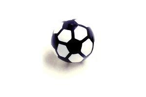 [14G用 ボディピアス ネジパーツ] サッカーボール(ネジ用パーツ) 14ゲージ用 14G おもしろ パーツ キャッチ サージカルステンレス ネジ式 ネジタイプ フットボール フットサル バーベル用