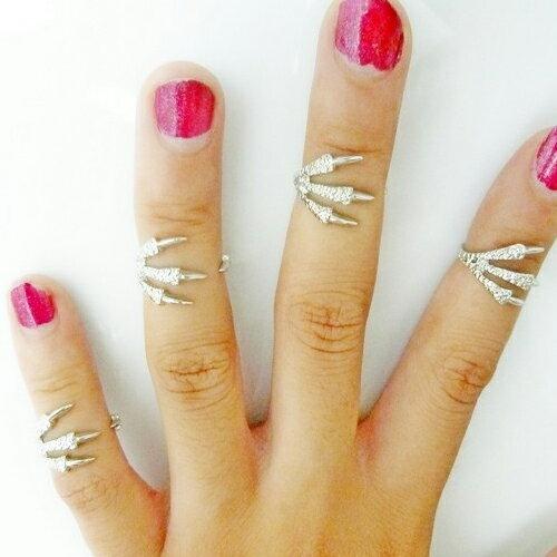 イーグルクロウファランジリング 指輪 ファランジリング チップリング メンズ レディース フォークリング ミディリング フィンガーリング フリーサイズ 関節の指輪 指先の指輪 おもしろ 面白い ユニーク シルバー ゴールド