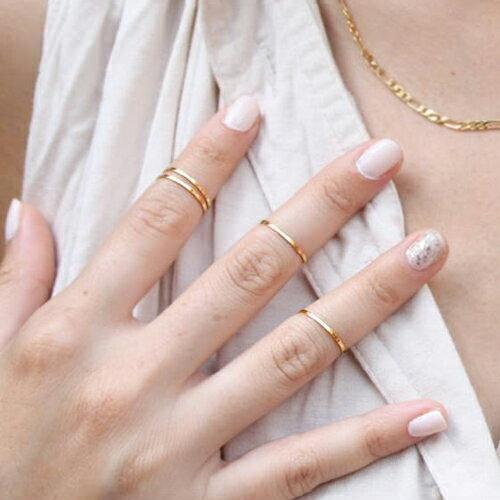 ゴールドスリムファランジリング 12号 金の指輪 細身 シンプル 激安 ファランジリング チップリング メンズ レディース フォークリング ミディリング フィンガーリング ゴールド 金色 結婚式 パーティ 2次会 およばれ プレゼント 発表会 卒業式 入学式 指先の指輪 関節