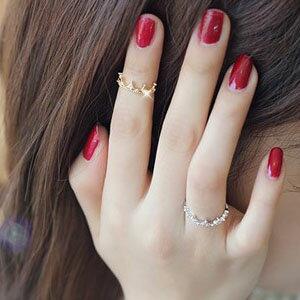 ティアラファランジリング 指輪 ファランジリング チップリング メンズ レディース フォークリング ミディリング フィンガーリング 王冠 シルバー ゴールド 金色 銀色 11号 関節の指輪 指先の指輪 結婚式 パーティ入学式 卒業式 ウエディング プレゼント ギフト ペアリング