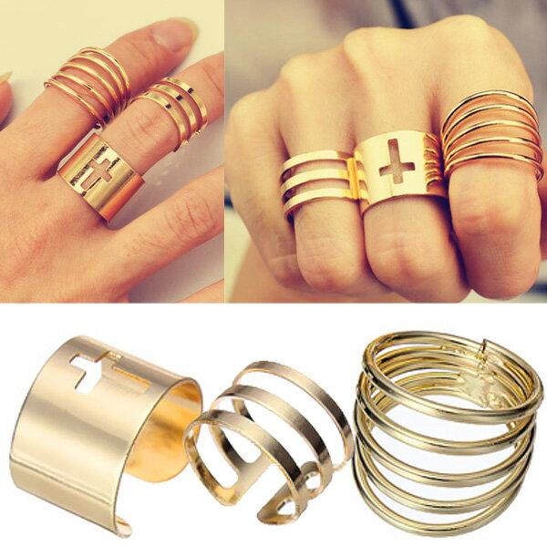 シャイニングファランジリング(3本セット) 指輪 ファランジリング チップリング メンズ レディース フォークリング ミディリング フィンガーリング 15号 フリーサイズ 金色 ゴールド クロス 十字架 指先の指輪 関節の指輪 結婚式 2次会 パーティ およばれ お呼ばれ