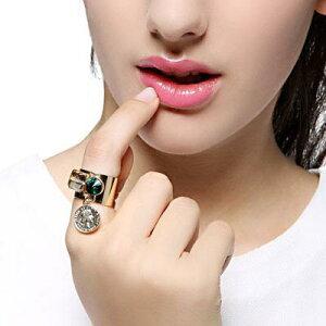 コインチャームビジューリング 1個販売 指輪 ファランジリング チップリング メンズ レディース フォークリング ミディリング フィンガーリング フリーサイズ ゴールド 金メッキ コインチ