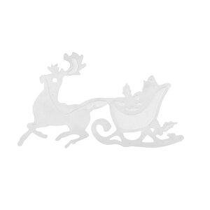 クリスマスステンレスパーツ(メリークリスマス)/1個販売 トナカイ ソリ サンタクロース サージカルステンレス ピアス イヤリング 部品 チャームパーツ 手作り フリマ ペンダント 金具 DIY