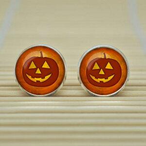 ハロウィンピアス(ジャックランタン)/1個販売 メンズ レディース ペア かぼちゃ パンプキン おもしろ キャッチピアス おもしろ 面白い オモシロ 仮装 ハロウィン ハロウィーン パーティ