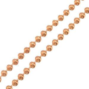 [DIY用 太さ 2mm] ピンクゴールドボール ステンレスチェーン/10cm単位 サージカルステンレス316L 手作り DIY ネックレス ブレスレット アンクレット ボディチェーン パーツ ボールチェーン メンズ