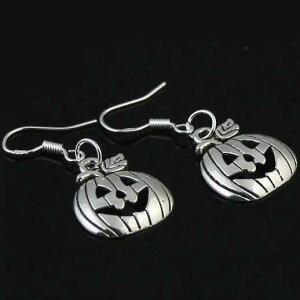 ハロウィンフックピアス(パンプキン)/1個販売 かぼちゃ 揺れる アメリカンピアス フックピアス ジャックランタンピアス メンズ レディース おもしろ キャッチピアス おもしろ 面白い オ