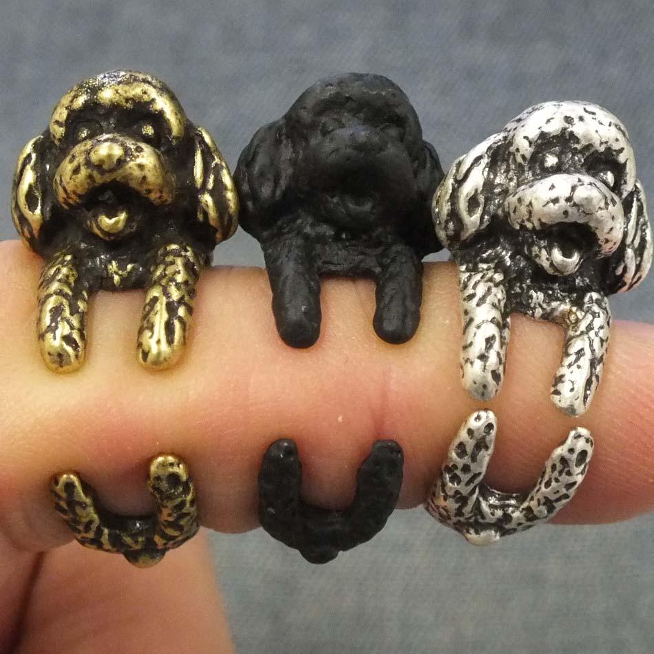 [アウトレット]プードルリング 指輪 ファランジリング チップリング メンズ レディース フォークリング ミディリング フィンガーリング フリーサイズ アニマル 動物 犬 イヌ ドッグ ミディリング 指先の指輪 関節の指輪 3D 立体 おもしろ 面白い オモシロ