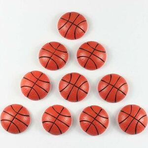 バスケットボールアクリルパーツ/1個販売 スポーツ おもしろ ユニーク 面白い 個性的 ピアス パーツ プラスチック イヤリング 貼り付け マグネットピアス チャーム ストラップ ネイル デコ