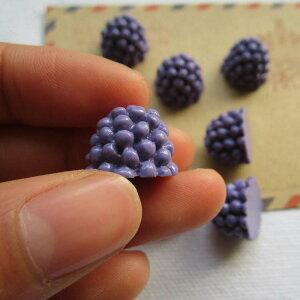 グレープアクリルパーツ/1個販売 ブドウ 葡萄 フルーツ 果物 食玩 おもしろ ユニーク 面白い 個性的 アクセサリー ピアス パーツ プラスティック イヤリング 貼り付け マグネットピアス チャ