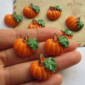 カボチャアクリルパーツ/1個販売 かぼちゃ パンプキン 南瓜 食玩 おもしろ ユニーク 面白い 個性的 アクセサリー ピアス プラスティック イヤリング 貼り付け マグネットピアス チャーム 食