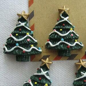 クリスマスツリーアクリルパーツ/1個販売 おもしろ ユニーク 面白い 個性的 アクセサリー ピアス パーツ プラスティック イヤリング 貼り付け マグネットピアス チャーム ネイル デコレーシ