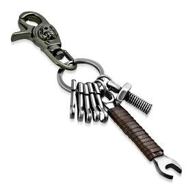 スカルレンチキーチェーン キーホルダー おもしろ プレゼント キーリング 鍵