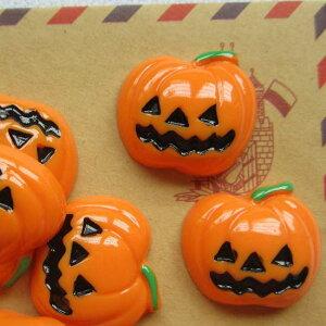 ハロウィンカボチャアクリルパーツ/1個販売 食玩 おもしろ ユニーク 面白い 個性的 パンプキン ハロウィーン ジャックランタン かぼちゃ カボチャのお化け ゴースト ピアス パーツ プラスチ