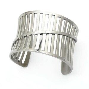 デスロック ステンレス バングル アームレット 腕輪 サージカルステンレス316L メンズ レディース 腕輪 手首 アクセサリー 二の腕 フリーサイズ 腕 ブレスレット 固定型 リング型 楕円形 プレ