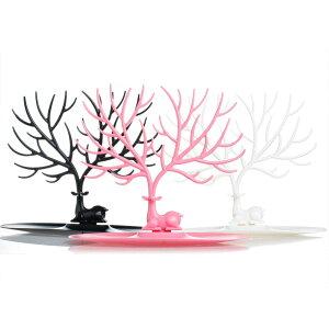 ディアージュエリーディスプレイ 鹿 アクセサリー ディスプレイ スタンド ネックレス ブレスレット 指輪 リング インテリア アニマル 動物 白 黒 ピンク ブラック ホワイト プレゼント ジュ