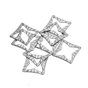 9.8mmx9.8mmスクエアステンレスパーツ/1個販売 サージカルステンレス ピアス イヤリング 部品 チャームパーツ 手作り フリマ 金具 DIY 手芸 ハンドメイド デザインパーツ オリジナルピアスを作