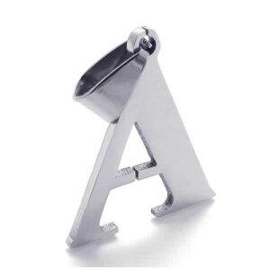 アルファベットペンダントトップ(A) イニシャル 英語 ロゴ サージカルステンレス316L ネックレス パーツ メンズ レディース トップ ペア ステンレスペンダントトップ ステンレスパーツ アク