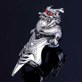 ドラゴンエンブレムアーマーリング 龍 竜 24号 指輪 メンズ レディース ペアリング 関節の指輪 ファランジリング 真珠 パール レッド クリスタル ジルコニア ラインストーン 曲がる指輪 甲冑 鎧 ナックルリング オモシロ 面白い 個性的 人気 コスプレ ハロウィン 仮装 変装
