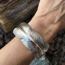 ボヘミアンフェザー バングル アームレット 腕輪 ブレスレット 二の腕 にのうで 腕に巻く 手首に巻く アクセサリー 手 インディアンジュエリー シルバー 銀色...