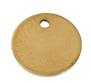 ゴールド10mmラウンドプレートステンレスパーツ 1個販売 丸型パーツ リングパーツ ステンレス チャームパーツ イヤリング ピアス ブレスレット ネックレス DIY 手作り 材料 金メッキ リング型