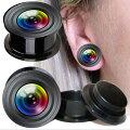カメラレンズ樹脂製ネジ式フレアボディピアス