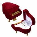 ピアノギフトケース楽器オルガンエレクトーンオーケストラおもしろラッピングボックス指輪リングピアスイヤリング贈り物店舗用業務用個性的ユニークプレゼントディスプレイ収納ベルベット面白い結婚式結婚記念日コンサートマリッジ赤色レッド