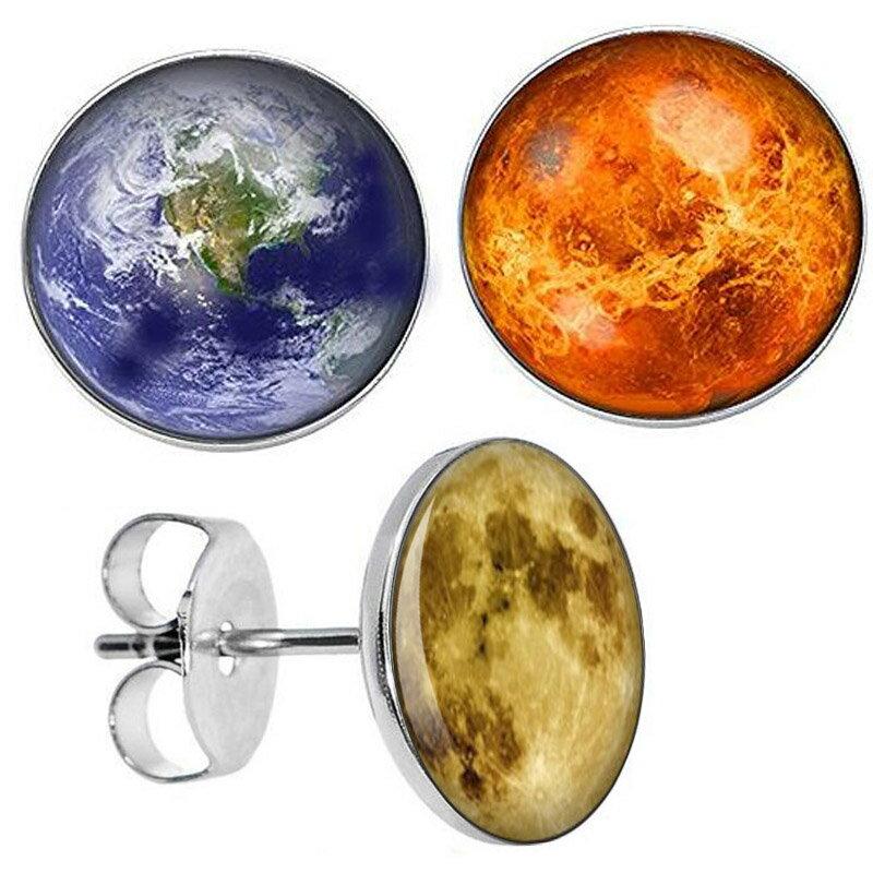 満月と太陽と地球 ステンレスピアス 1個販売 両耳 20G 20ゲージ 20ga サージカルステンレス316L キャッチピアス スタッドピアス メンズ レディース 耳 軟骨 丸型 地球儀 天体 宇宙 おもしろ 面白い 月 アース サン 夜 プラネット 彼氏 彼女 プラネタリウム ムーン ユニーク