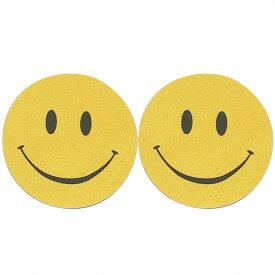 スマイルニップルステッカー 1ペア販売 にこちゃん スマイルくん 黄色 イエロー 笑顔 ピース 乳首 シール 貼るだけ 下着 ブラ ランジェリーアクセサリー レディース ダンサー 女子 バストトップ セクシー ニップレス 胸 穴あけ不要 ニプレス おもしろ 面白い コスプレ 仮装