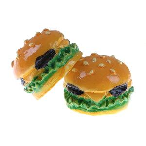 ハンバーガーアクリルパーツ/1個販売 チーズバーガー 食玩 オモシロい ユニーク 面白い 個性的 ピアス パーツ プラスティック イヤリング 貼り付け チャーム ストラップ 食品サンプル ネイ