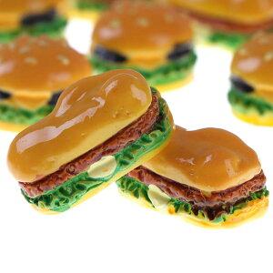 照り焼きチキンバーガーアクリルパーツ/1個販売 ハンバーガー 食玩 おもしろ ユニーク 面白い 個性的 ピアス イヤリング 貼り付け マグネットピアス チャーム 食品サンプル ネイル デコレー