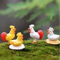 ニワトリアクリルパーツ/3個アソート販売鶏鳥バードアニマル動物おもしろユニーク面白いピアスパーツプラスティックイヤリング貼り付けチャームネイルデコレーション爪携帯電話飾る部品材料クラフトDIY手作りハンドメイド平ら面白いおもしろ