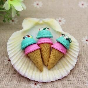 アイスクリームアクリルパーツ/1個販売 食玩 おもしろ ユニーク 面白い 個性的 ピアス パーツ プラスティック イヤリング 貼り付け マグネットピアス チャーム ストラップ 食品サンプル ネ