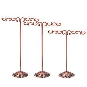 ブロンズトライバルピアススタンド 3個セット 茶色 銅色 ピアスたて ピアスディスプレイ 店舗用 什器 イヤリングスタンド 3つセット ジュエリー 撮影用 プロ ブラック プレゼント ギフト シ