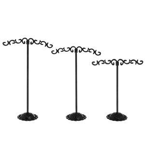 ブラックトライバルピアススタンド 3個セット 黒色 ピアスたて ピアスディスプレイ 店舗用 什器 イヤリングスタンド 3つセット ジュエリー 撮影用 プロ ブラック プレゼント ギフト ショッ