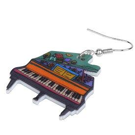可愛いピアノ リアルステンレスピアス/1個販売 20G 20ゲージ 楽器 コンサート 音楽 ぴあの ミュージック 学校 先生 人気 おもしろい オモシロ サージカルステンレス316L ユニーク メンズ レディース 揺れる フックピアス アクリル プラスティック プレゼント ギフト