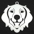 ゴールデンレトリバーステンレスパーツ1個販売可愛い犬いぬイヌドッグアニマル動物ペットショップネームタグチャームパーツメンズレディース部品金具DIYペンダントトップアクセサリーチャームピアスクラフト手作りネックレスハンドメイド可愛い