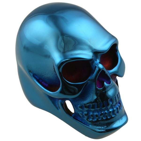 ブルースカルステンレスリング(ZRO001)サイズ/32号 青いドクロ ガイコツ オモシロ 3D 立体 指輪 サージカルステンレス316L メンズ レディース ペアリング プレゼント ギフト 誕生日 ピンキーリング ファランジリング